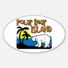 Polar Bear Island Oval Decal
