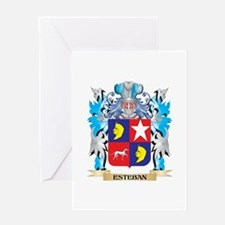 Esteban Coat of Arms - Family Crest Greeting Cards