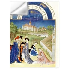 Tres Riches Heures by Limbourg Bros. April. Bethro Wall Decal