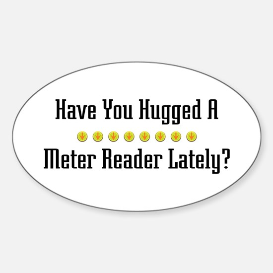 Hugged Meter Reader Oval Decal