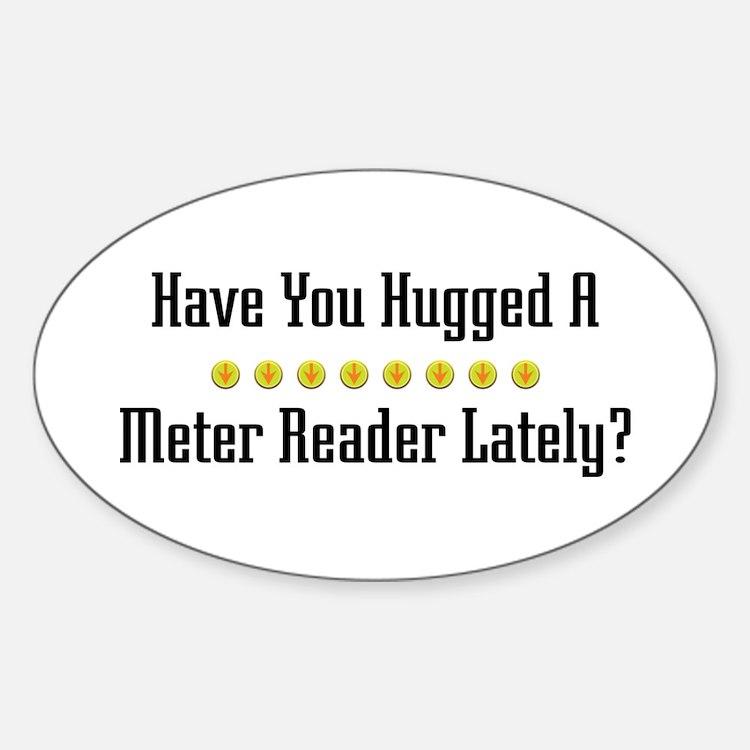 Hugged Meter Reader Oval Decal