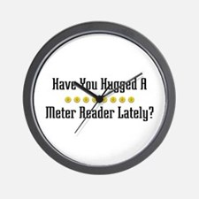 Hugged Meter Reader Wall Clock