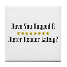 Hugged Meter Reader Tile Coaster