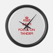 Cool Keep calm cycle on Large Wall Clock