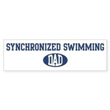 Synchronized Swimming dad Bumper Bumper Sticker