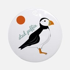 Stud Puffin Ornament (Round)