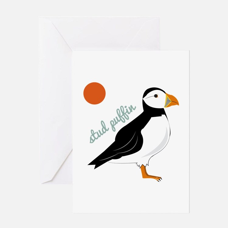 Stud Puffin Greeting Cards