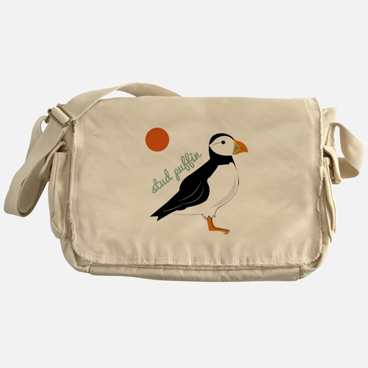 Stud Puffin Messenger Bag