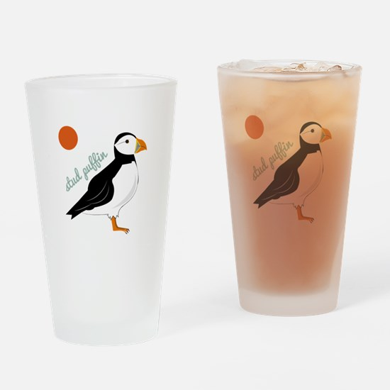 Stud Puffin Drinking Glass