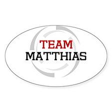 Matthias Oval Decal