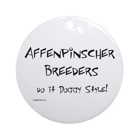 Affenpinscher Doggy Style Ornament (Round)