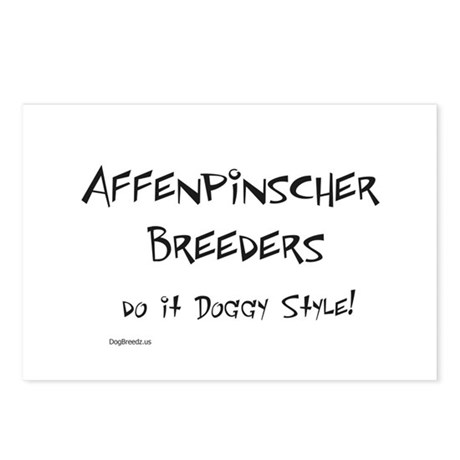 Affenpinscher Doggy Style Postcards (Package of 8)