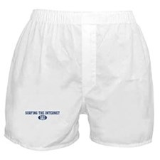 Surfing the Internet dad Boxer Shorts