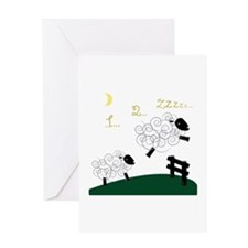 Counting Sheep Greeting Cards