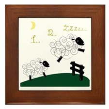 Counting Sheep Framed Tile