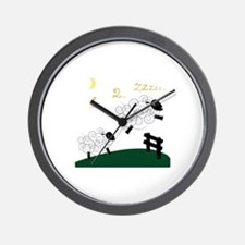 Counting Sheep Wall Clock
