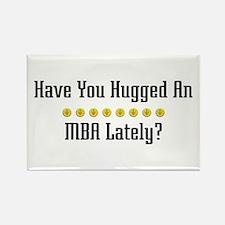 Hugged MBA Rectangle Magnet