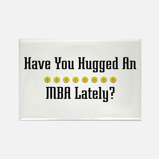 Hugged MBA Rectangle Magnet