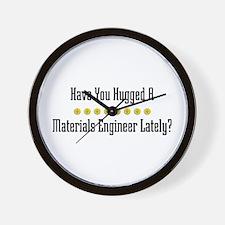 Hugged Materials Engineer Wall Clock