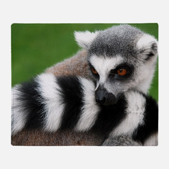 Lemur Animal Throw Blanket