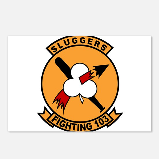 Cute Tomcat fighter jet Postcards (Package of 8)