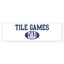 Tile Games dad Bumper Bumper Sticker