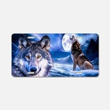 Wolf decor Aluminum License Plate