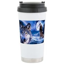 Wolf decor Travel Mug