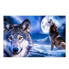 Wolf decor Postcards (Package of 8)