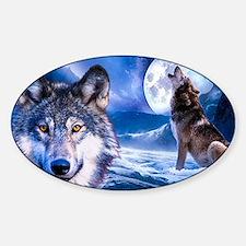 Wolf decor Sticker (Oval)
