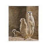 Funny meerkat Blankets