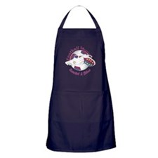 Football Colors Scarlet And Blue Apron (dark)