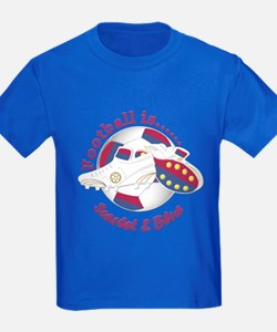 Football Colors Scarlet And Blue T-Shirt