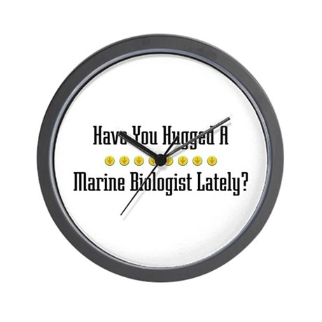 Hugged Marine Biologist Wall Clock