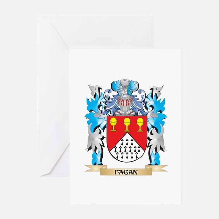 Fagan Coat of Arms - Family Crest Greeting Cards