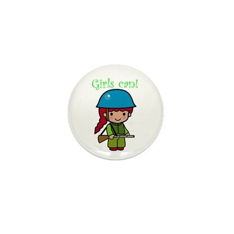 Girl Soldier Mini Button (10 pack)