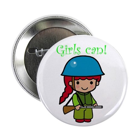 """Girl Soldier 2.25"""" Button (10 pack)"""