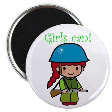 "Girl Soldier 2.25"" Magnet (10 pack)"
