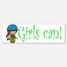 Girl Soldier Bumper Bumper Bumper Sticker