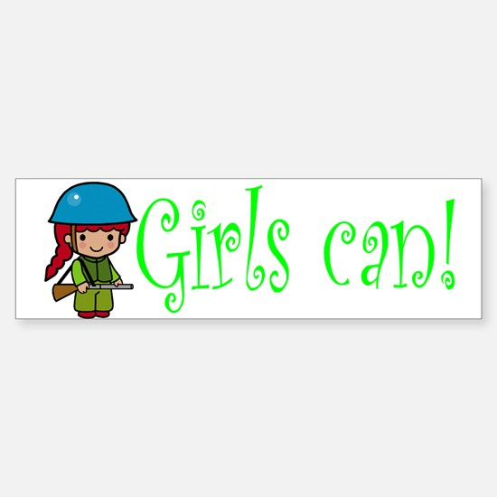 Girl Soldier Bumper Bumper Bumper Sticker
