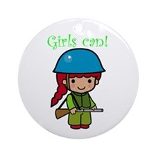 Girl Soldier Ornament (Round)