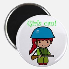Girl Soldier Magnet