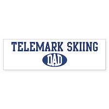 Telemark Skiing dad Bumper Bumper Stickers