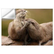 Oriental Short-Clawed Otters Wall Decal