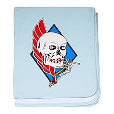 Unique Navy blue baby blanket