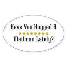 Hugged Mailman Oval Decal