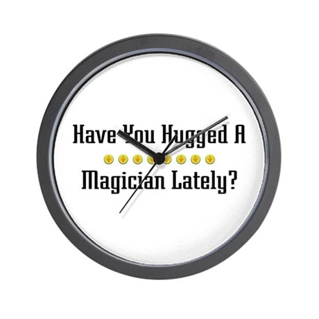 Hugged Magician Wall Clock