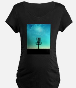Disc Golf Basket Maternity T-Shirt
