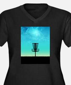Disc Golf Basket Plus Size T-Shirt