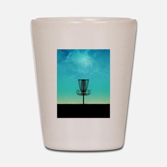 Disc Golf Basket Shot Glass